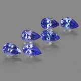 thumb image of 2.5ct Pear Facet Violet Blue Tanzanite (ID: 420700)