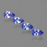 thumb image of 1.4ct Pear Facet Violet Blue Tanzanite (ID: 420908)