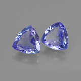 0.98 ct Trillion Facet Violet Blue Tanzanite Gem 7.09 mm x 7 mm (Photo B)