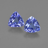 thumb image of 1.9ct Trillion Facet Violet Blue Tanzanite (ID: 421183)