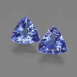 thumb image of 2.1ct Trillion Facet Violet Blue Tanzanite (ID: 421185)