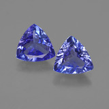thumb image of 1.9ct Trillion Facet Violet Blue Tanzanite (ID: 421188)
