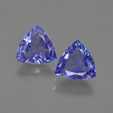 thumb image of 2ct Trillion Facet Violet Blue Tanzanite (ID: 421189)