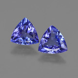 thumb image of 2.1ct Trillion Facet Violet Blue Tanzanite (ID: 421191)