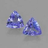 thumb image of 1.9ct Trillion Facet Violet Blue Tanzanite (ID: 421218)