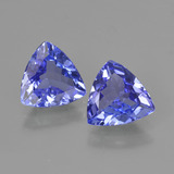 thumb image of 1.1ct Trillion Facet Violet Blue Tanzanite (ID: 421219)