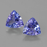thumb image of 2ct Trillion Facet Violet Blue Tanzanite (ID: 421224)