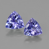 thumb image of 2.1ct Trillion Facet Violet Blue Tanzanite (ID: 421226)