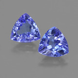 thumb image of 2.1ct Trillion Facet Violet Blue Tanzanite (ID: 421301)