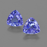 thumb image of 1.9ct Trillion Facet Violet Blue Tanzanite (ID: 421303)
