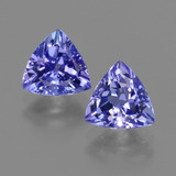 thumb image of 2.7ct Trillion Facet Violet Blue Tanzanite (ID: 421306)