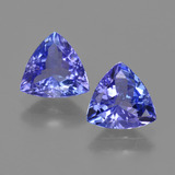 thumb image of 2.3ct Trillion Facet Violet Blue Tanzanite (ID: 421310)