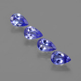 thumb image of 1.8ct Pear Facet Violet Blue Tanzanite (ID: 421850)