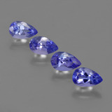 thumb image of 1.7ct Pear Facet Violet Blue Tanzanite (ID: 421853)