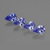 thumb image of 1.8ct Pear Facet Violet Blue Tanzanite (ID: 421937)