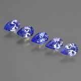 thumb image of 1.9ct Pear Facet Violet Blue Tanzanite (ID: 421943)