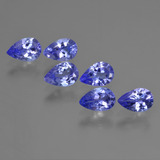 thumb image of 2.6ct Pear Facet Violet Blue Tanzanite (ID: 421945)