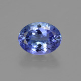 thumb image of 1.6ct Oval Facet Violet Blue Tanzanite (ID: 422599)