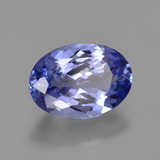 2.45 ct Oval Facet Violet Blue Tanzanite Gem 10.58 mm x 7.6 mm (Photo B)