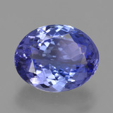 thumb image of 2.7ct Oval Facet Violet Blue Tanzanite (ID: 423419)