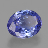 2.66 ct Oval Facet Violet Blue Tanzanite Gem 9.82 mm x 7.8 mm (Photo B)