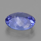 2.66 ct Oval Facet Violet Blue Tanzanite Gem 9.82 mm x 7.8 mm (Photo C)