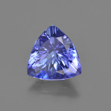 2.06 ct Trillion Facet Violet Blue Tanzanite Gem 9.05 mm x 8.7 mm (Photo B)