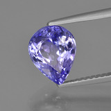 2.35 ct Pear Facet Violet Blue Tanzanite Gem 9.22 mm x 7.3 mm (Photo B)