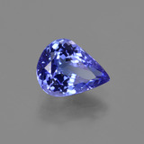 2.00 ct Pear Facet Violet Blue Tanzanite Gem 9.13 mm x 7.1 mm (Photo B)