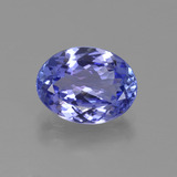 thumb image of 2ct Oval Facet Violet Blue Tanzanite (ID: 423669)