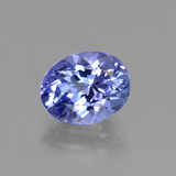 thumb image of 1.6ct Oval Facet Violet Blue Tanzanite (ID: 423682)