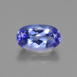 thumb image of 1.5ct Oval Facet Violet Blue Tanzanite (ID: 423684)