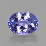 thumb image of 2ct Oval Facet Violet Blue Tanzanite (ID: 423818)