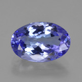 thumb image of 2.5ct Oval Facet Violet Blue Tanzanite (ID: 423823)