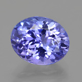 thumb image of 2.9ct Oval Facet Violet Blue Tanzanite (ID: 423824)