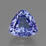 thumb image of 1.9ct Trillion Facet Violet Blue Tanzanite (ID: 424094)