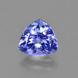 thumb image of 1ct Trillion Facet Violet Blue Tanzanite (ID: 424260)