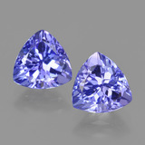 thumb image of 2.6ct Trillion Facet Violet Blue Tanzanite (ID: 424285)