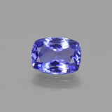 thumb image of 1.4ct Cushion-Cut Violet Blue Tanzanite (ID: 424538)