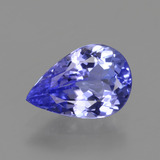 thumb image of 1.4ct Pear Facet Violet Blue Tanzanite (ID: 424579)