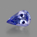 thumb image of 1.2ct Pear Facet Violet Blue Tanzanite (ID: 424584)