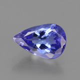 thumb image of 1.2ct Pear Facet Violet Blue Tanzanite (ID: 424587)