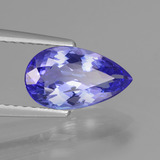 1.64 ct Pear Facet Violet Blue Tanzanite Gem 10.47 mm x 6 mm (Photo B)