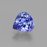thumb image of 1.3ct Pear Facet Violet Blue Tanzanite (ID: 424717)