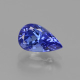 thumb image of 1.3ct Pear Facet Violet Blue Tanzanite (ID: 424719)