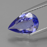 thumb image of 1.3ct Pear Facet Violet Blue Tanzanite (ID: 424751)