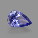1.33 ct Pear Facet Violet Blue Tanzanite Gem 9.63 mm x 6.5 mm (Photo B)