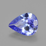2.20 ct Pear Facet Violet Blue Tanzanite Gem 10.40 mm x 7.9 mm (Photo B)