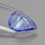 2.20 ct Pear Facet Violet Blue Tanzanite Gem 10.40 mm x 7.9 mm (Photo C)