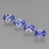 thumb image of 1.7ct Oval Facet Violet Blue Tanzanite (ID: 438145)